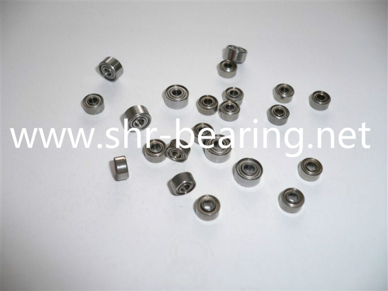 SYBR SS695 Miniature Stainless Steel Ball Bearings Size Chart