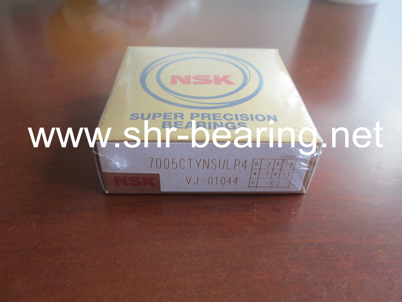 NSK precision angular contact ball bearing 7003CTYNSULP4 7003CTYNDULP4 7003CTYNDBLP5