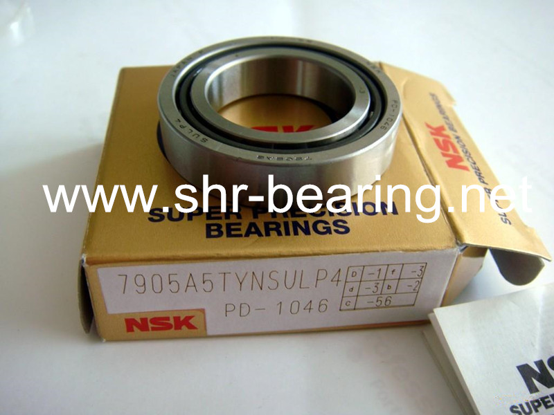 NSK CNC maintenance 7905A5TYNSULP4 7905CTYNSULP4 Precision Machine Tool Bearings