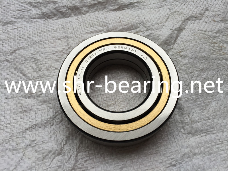 FAG QJ209MPA.C3 Angular Contact Ball Bearing, Single Row Four point contact bearings